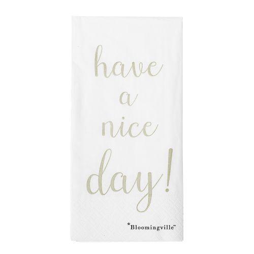 Bloomingville / Papierové obrúsky Nice day
