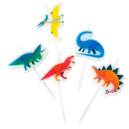 Talking Tables / Dortové svíčky Dino Candles 5 ks