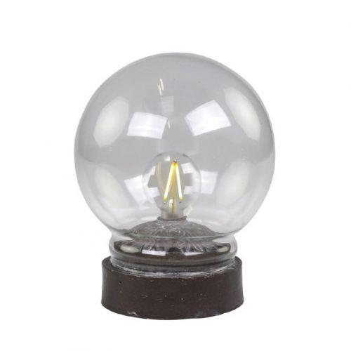 Chic Antique / Stolná dekoratívna lampička Antique Coal