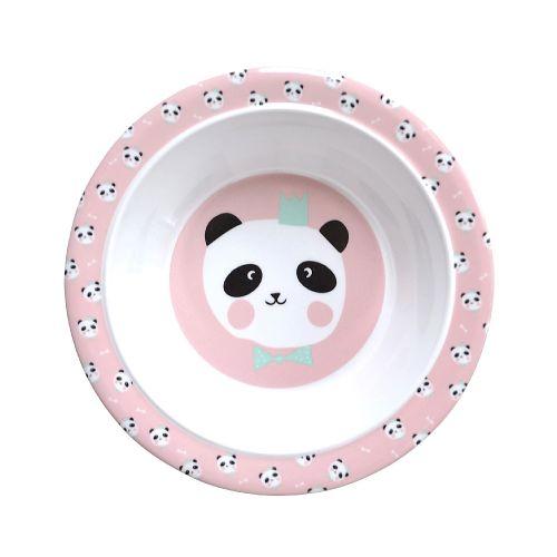 EEF lillemor / Detská melaminová miska King Panda Pink