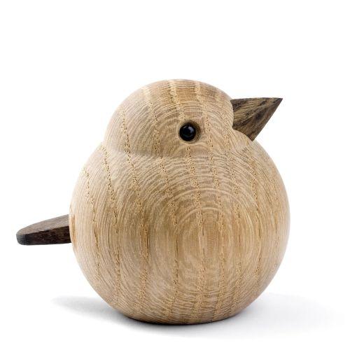 novoform / Drevený vtáčik Baby Sparrow Natural Oak