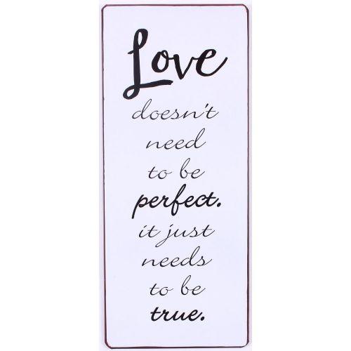 La finesse / Plechová cedulka True Love