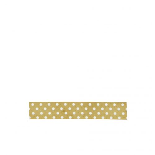 MADAM STOLTZ / Dizajnová samolepiaca páska Gold white dots
