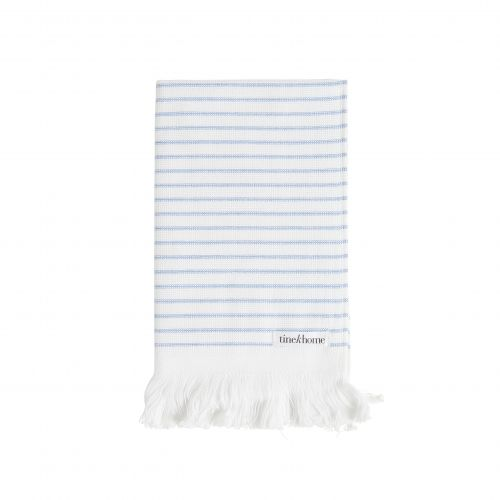 Tine K Home / Pruhovaný uterák Pinstripe Blue 30x50 cm