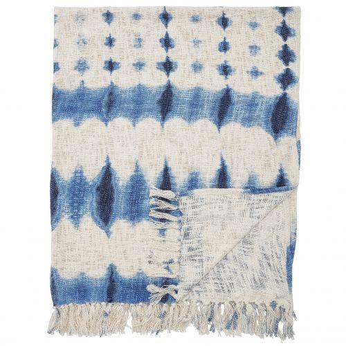 Bloomingville / Batikovaný prehoz Blue 160x130 cm