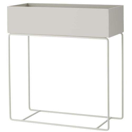 ferm LIVING / Dizajnový kvetináč na stojane Light Grey
