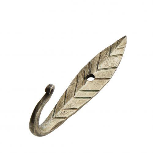 MADAM STOLTZ / Ručne kovaný vešiačik Brass Leaf - menší