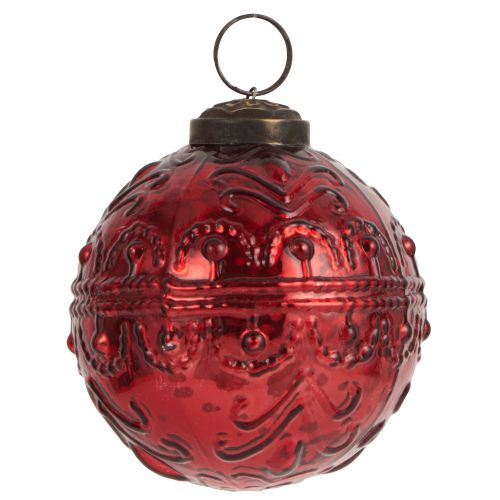 IB LAURSEN / Vianočná ozdoba Pattern Red väčšia