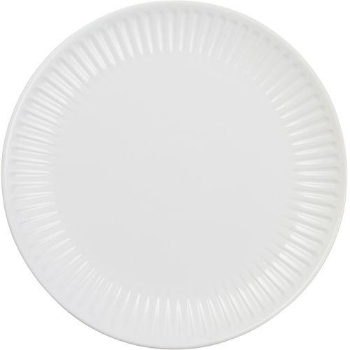 IB LAURSEN / Vrúbkovaný tanier Mynte Pure White 28 cm