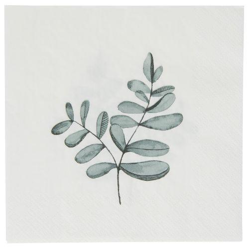 IB LAURSEN / Papierové obrúsky Eucalyptus Leaves 20 ks