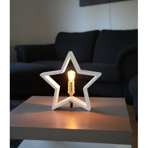 STAR TRADING / Stolná lampa v tvare hviezdy Lysekil White