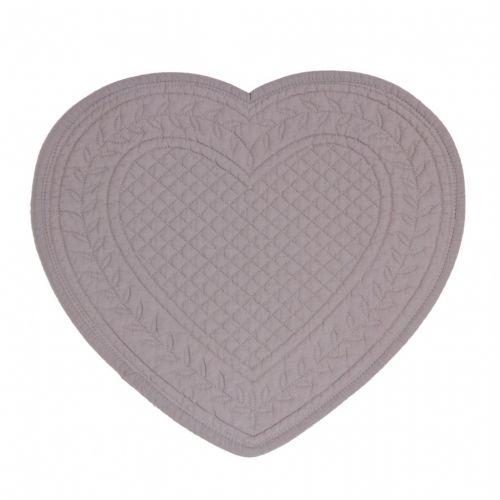 CÔTÉ TABLE / Látkové prestieranie srdce - lila 30 cm