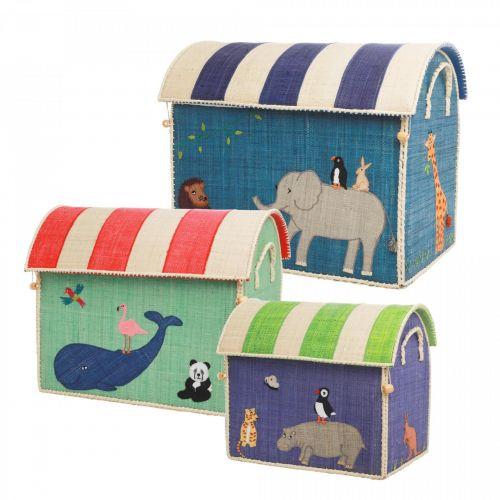 rice / Detský úložný kôš Raffia Animals