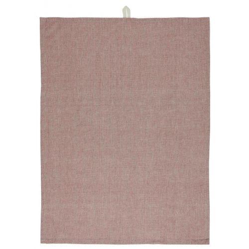 IB LAURSEN / Bavlnená utierka Beige/Red Small Stripes
