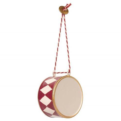 Maileg / Závesná vianočná ozdoba Large Drum Red