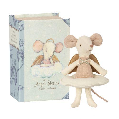 Maileg / Myška Big sister - anjelik v knihe