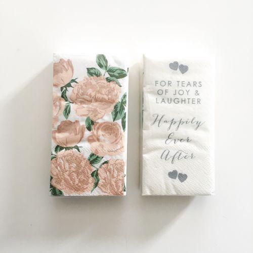 Talking Tables / Svadobné papierové vreckovky Romance