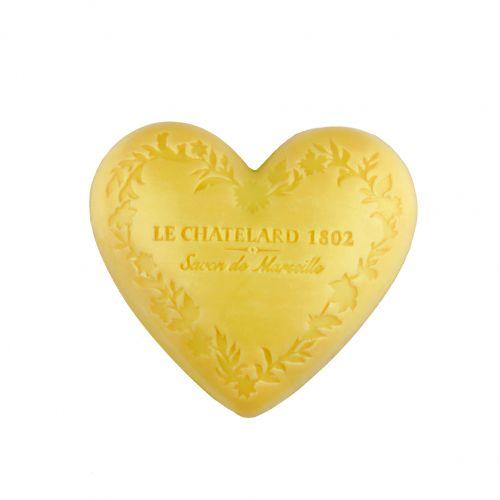 LE CHATELARD / Marseillské mydlo Heart - mandarínka a limetka 100gr