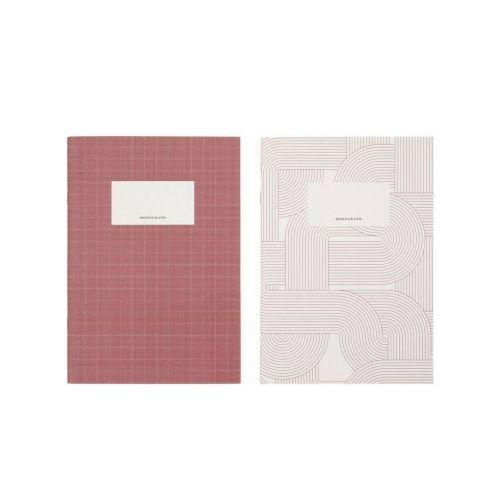 MONOGRAPH / Sada zošitov A5 Study Red - 2 ks