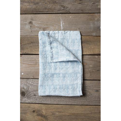 Fine Little Day / Ľanový uterák Tant Blue 67x67 cm