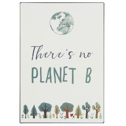 IB LAURSEN / Plechová ceduľa Planet B