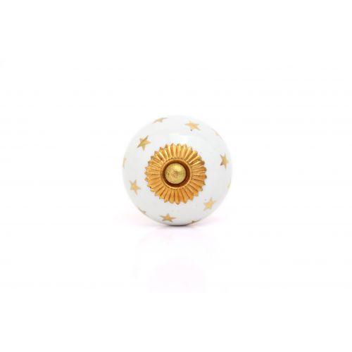 La finesse / Porcelánová úchytka Gold Star