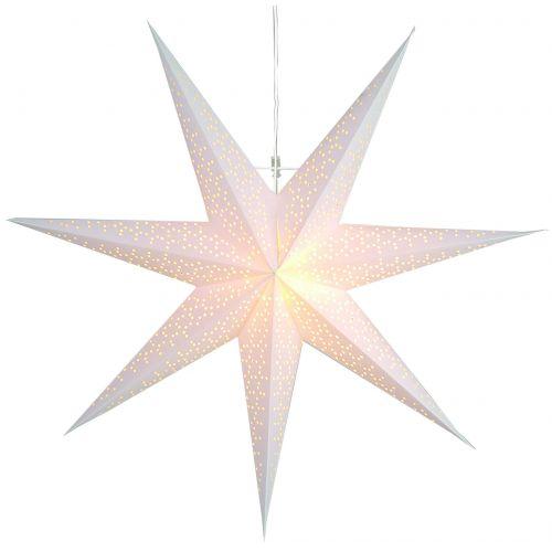 STAR TRADING / Závesná svietiaca hviezda Dot White 70 cm