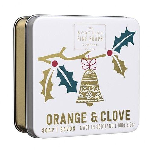 SCOTTISH FINE SOAPS / Vianočné mydlo v krabičke Orange & Clove 100g