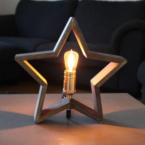 STAR TRADING / Stolná lampa v tvare hviezdy Lysekil Nature