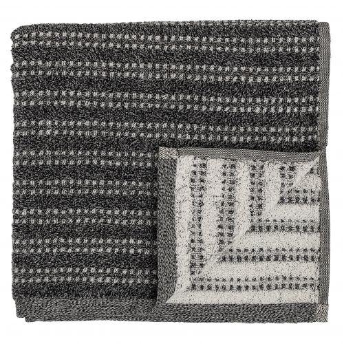 Bloomingville / Froté uterák Black 140x70 cm
