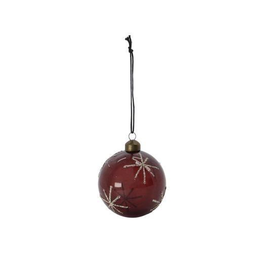 House Doctor / Vianočná ozdoba Star Burgundy - 8cm