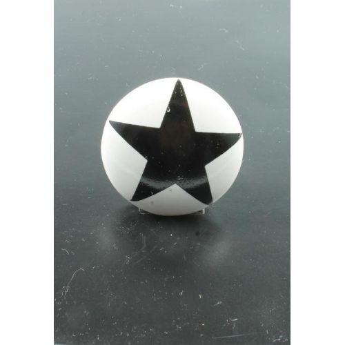 La finesse / Porcelánová úchytka Black star