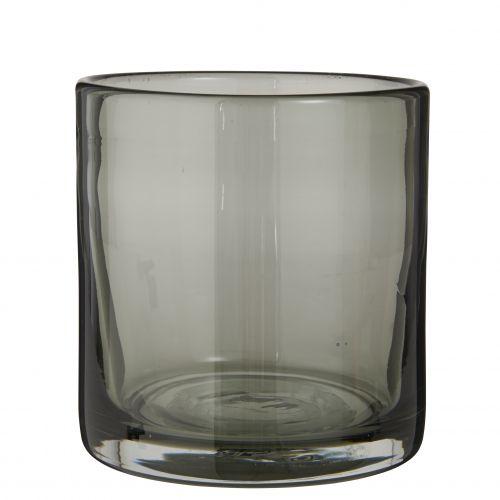 IB LAURSEN / Svietnik z ručne fúkaného skla Grey