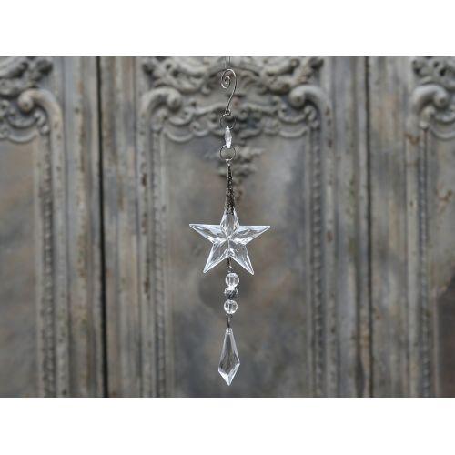 Chic Antique / Dekorativní Crystal star 26cm