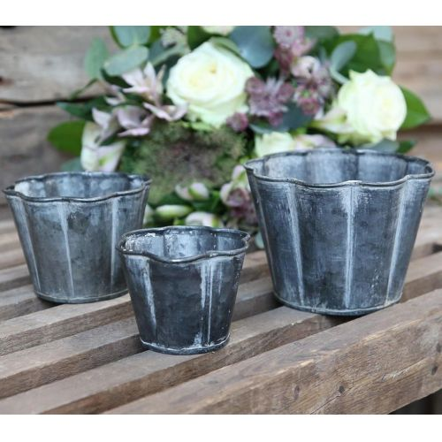 Chic Antique / Dekoratívny zinkový obal na kvety For Deco
