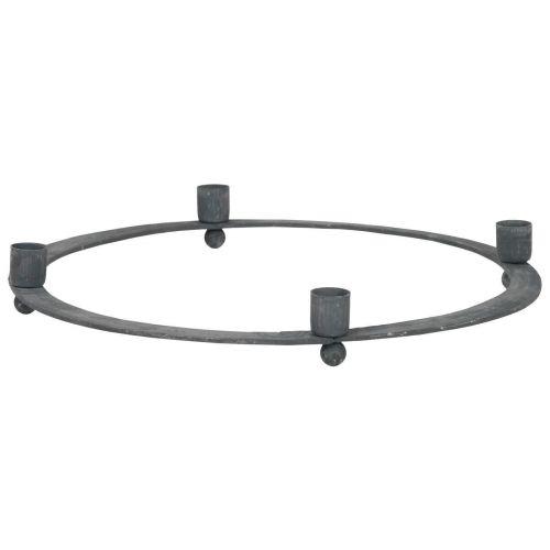 IB LAURSEN / Adventný kovový svietnik Grey Thin
