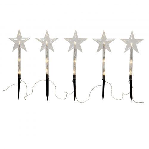 STAR TRADING / Vonkajšie vianočné LED osvetlenie Wandy - Set 5 ks