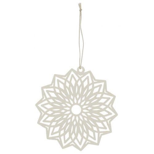 IB LAURSEN / Závesná papierová ozdoba Flower White 12 cm