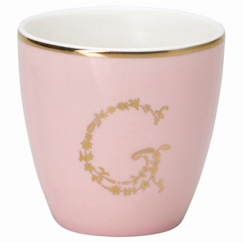 Green Gate / Mini latte cup G pale pink