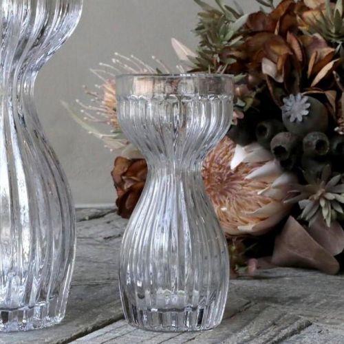 Chic Antique / Sklenená váza Amaryllis Grooves 18 cm