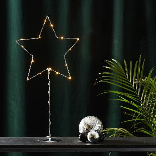 STAR TRADING / LED svietiaca hviezda na stojančeku Sparkling