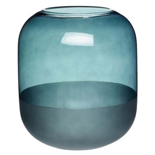 Hübsch / Sklenená váza Big Matte Blue
