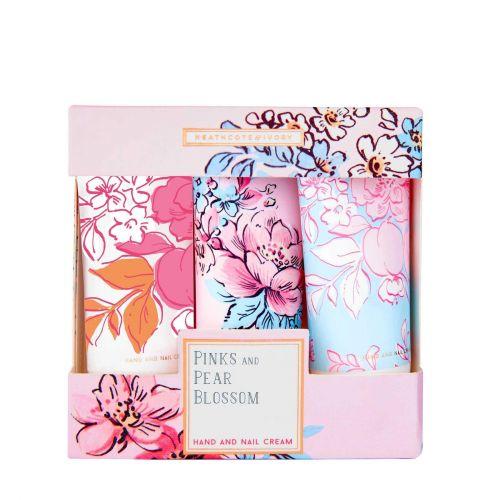 HEATHCOTE & IVORY / Krém na ruky Pinks & Pear Blossom - 3x30ml