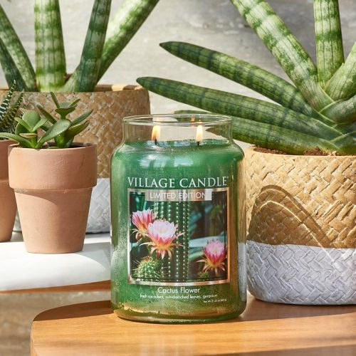 VILLAGE CANDLE / Sviečka Village Candle - Cactus Flower 602g