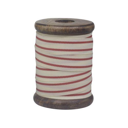 Chic Antique / Bavlnená stuha Red Stripes 5m