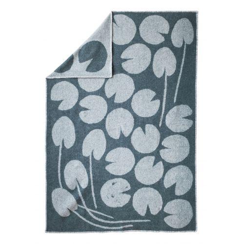 Fine Little Day / Vlnená deka Water lilies Green 130x190 cm