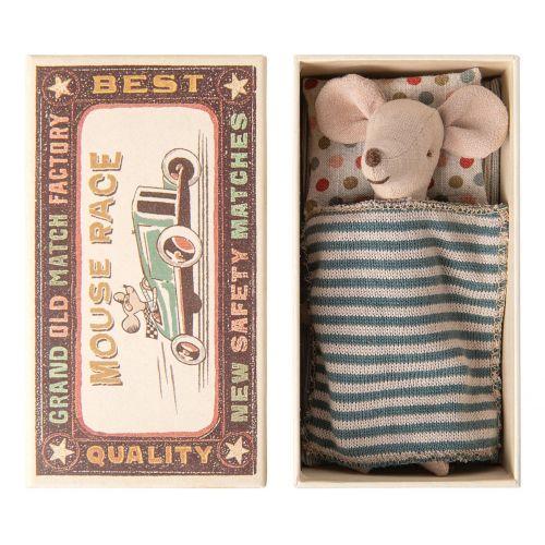Maileg / Myšiak v krabičke od zápaliek Big brother mouse