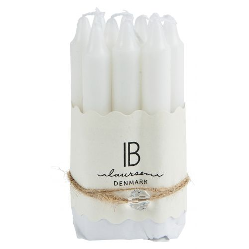 IB LAURSEN / Úzka sviečka White 10 cm - set 10 ks