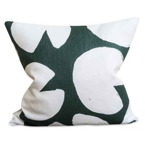 Fine Little Day / Ľanová obliečka na vankúš Water Lilies Green 50x50 cm