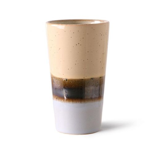 HK living / Keramický latte cup 70's Lake 280ml